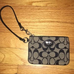 Coach Wristlet Black and White